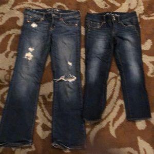American Eagle Jeans & Capris both size 8 Reg